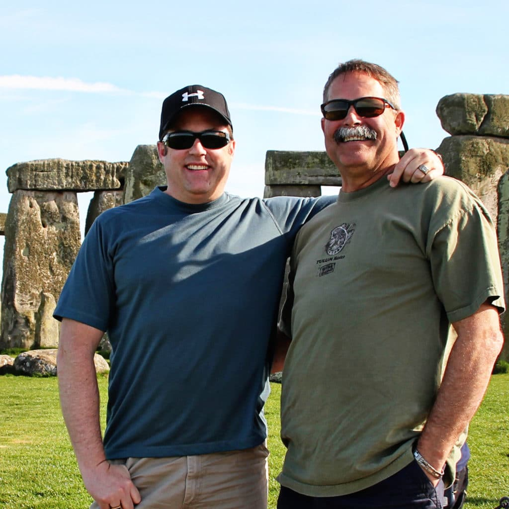Kevin and Dave Stonehenge 2010