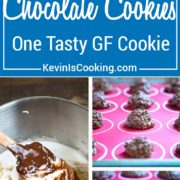 A wonderful meringue gets mixed with melted chocolate and chopped walnuts are added for a delicate, rich cookie. These are my mom's Beacon Hill Cookies! One tasty GF cookie!