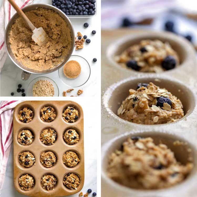 how to make prep photos of Blueberry Oat Muffins