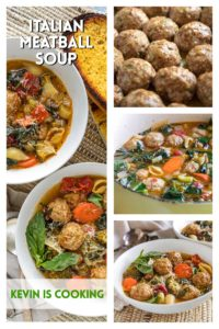 step by step photos of making Italian Meatball soup