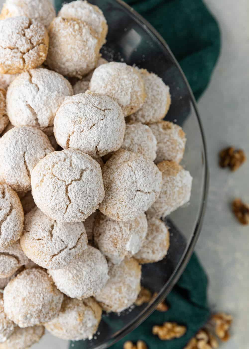 overheads photo of Mexican Wedding Cookies