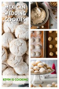 collage of Mexican Wedding Cookies photos