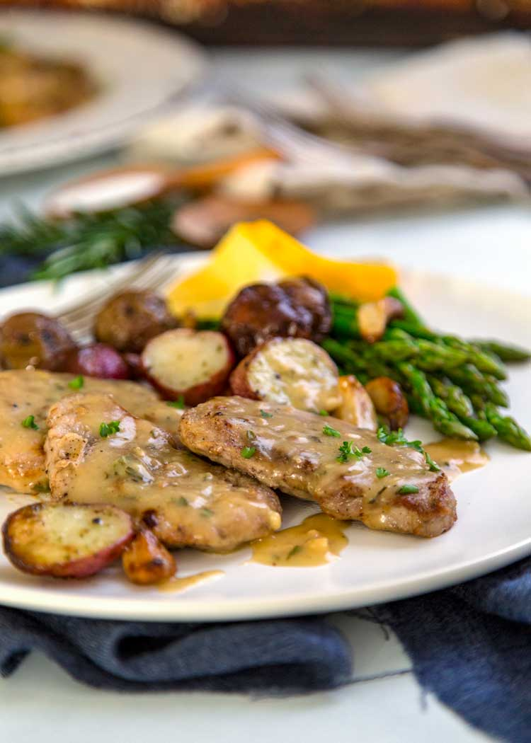 Lemon, Rosemary Pork Medallions