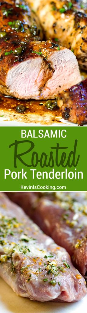 This Balsamic Roast Pork Tenderloin looks you spent a lot of time on it, but it's on the table in 30 minutes. Balsamic, lemon and capers for a spot on Italian meal. Family loves it!