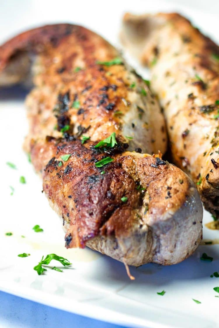 This Balsamic Roast Pork Tenderloin looks you spent a lot of time on it, but it's on the table in 30 minutes. Balsamic, lemon and capers for a spot on Italian meal. Family loves it! www.keviniscooking.com