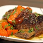 Braised Beef Short Ribs in Herbed White Wine Sauce