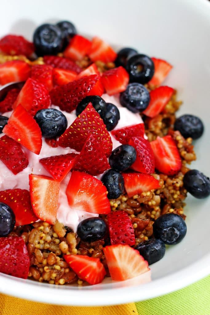 Wheat Berry Grain Salad with Fresh Fruit