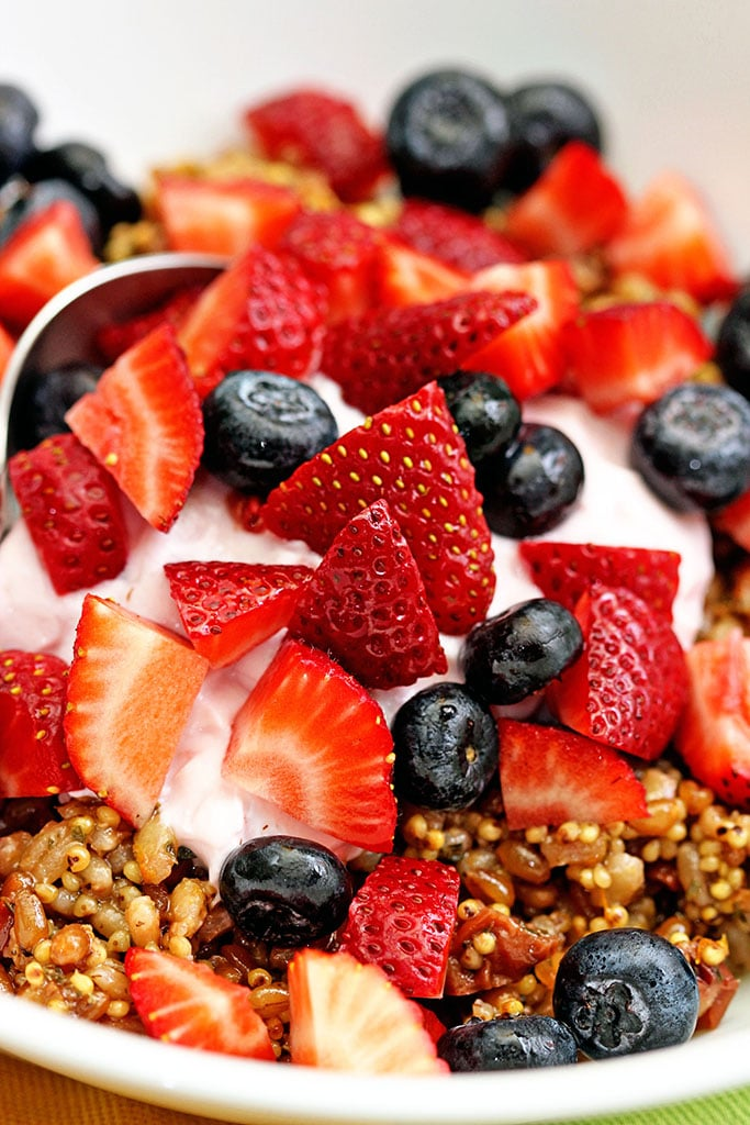 Wheat Berry Grain Salad with Fresh Fruit - keviniscooking.com