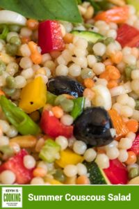 israeli couscous summer salad