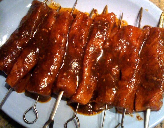Spicy Pork Tenderloin Skewers