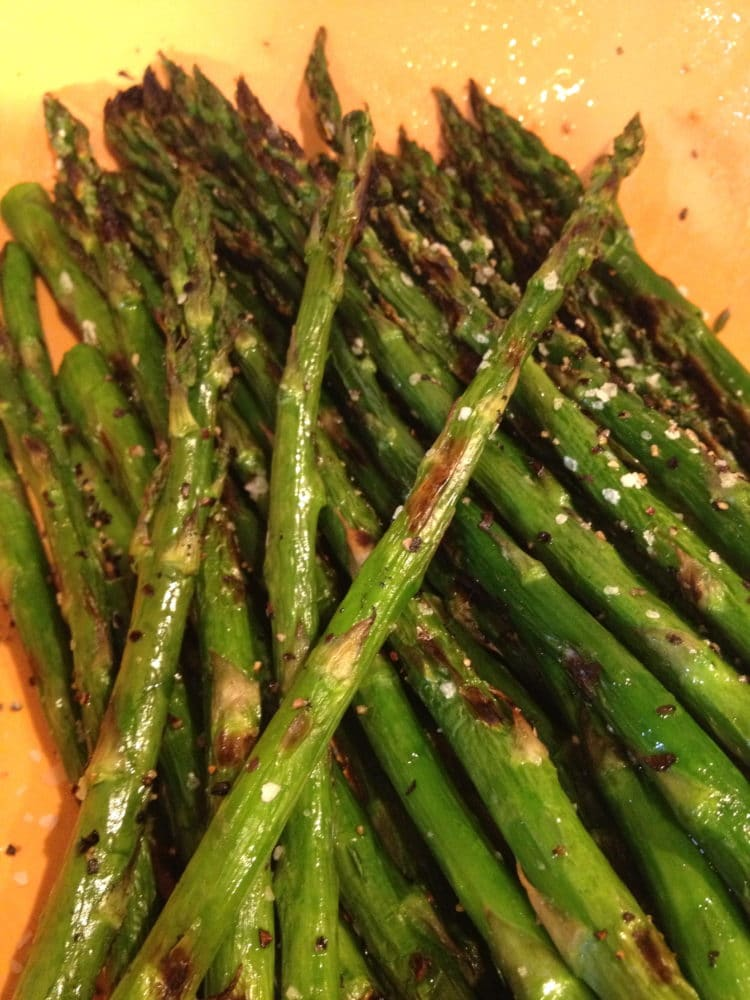 Grilled Cajun Shrimp and Asparagus - Kevin Is Cooking