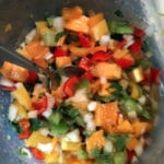Papaya Tomatillo Salsa