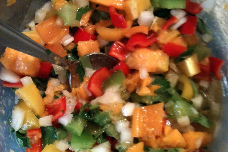 Papaya Tomatillo Salsa