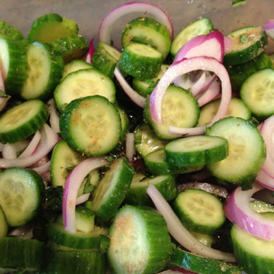 Pickled Persian Cucumber & Red Onions