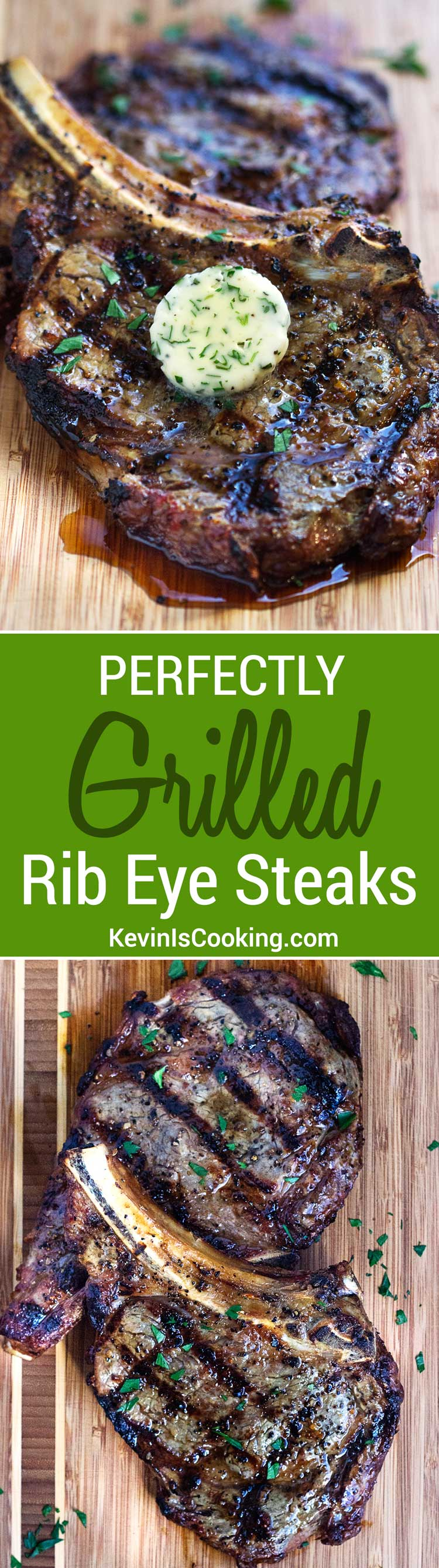 These Perfect Rib Eye Steaks have a seasoning that includes dill seed and orange zest and after grilling is topped with compound butter. Steak lover heaven!