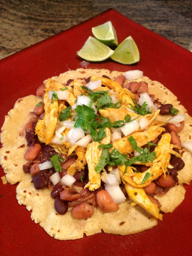 Chicken Tostadas with Fresh Corn Tortillas - keviniscooking.com