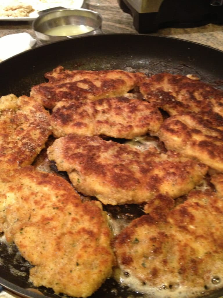 These Lemon Chicken Tenders are breaded and pan fried to a golden ...