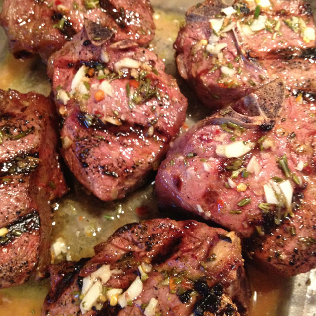 Lemon Rosemary Grilled Lamb Loin Chops - keviniscooking.com