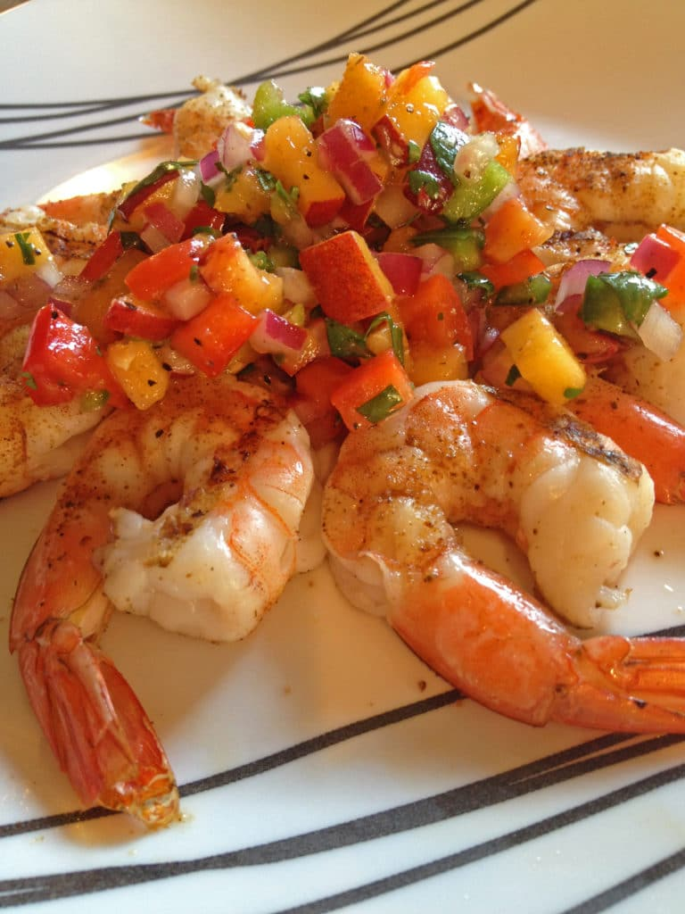 grilled-shrimp-peach-salsa