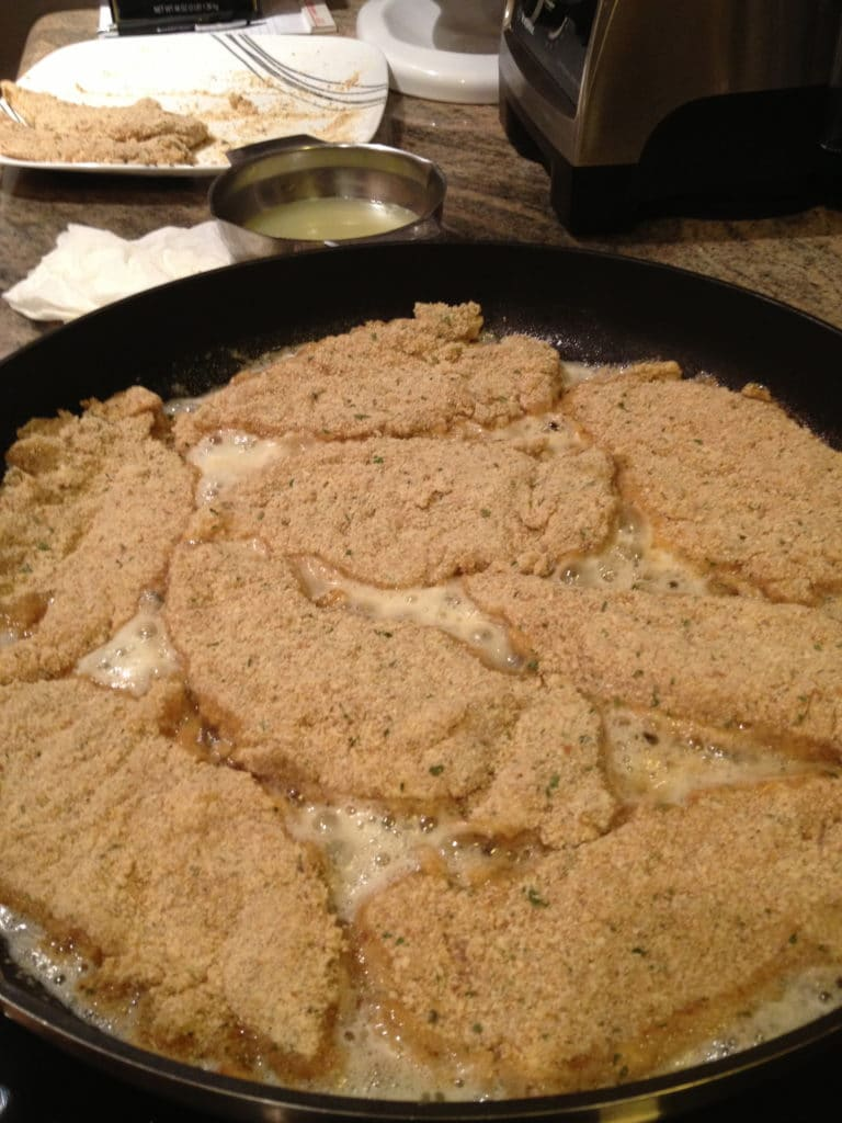 These Lemon Chicken Tenders are breaded and pan fried to a golden crispy brown and a quick lemon pan sauce is made and poured over for a quick and delicious dinner. www.keviniscooking.com