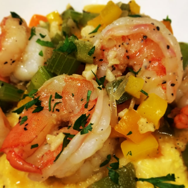 cajun shrimp and grits feature