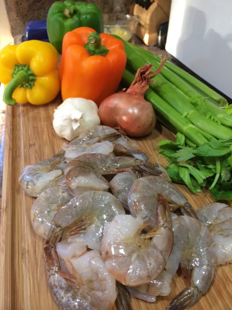 cajun shrimp prep