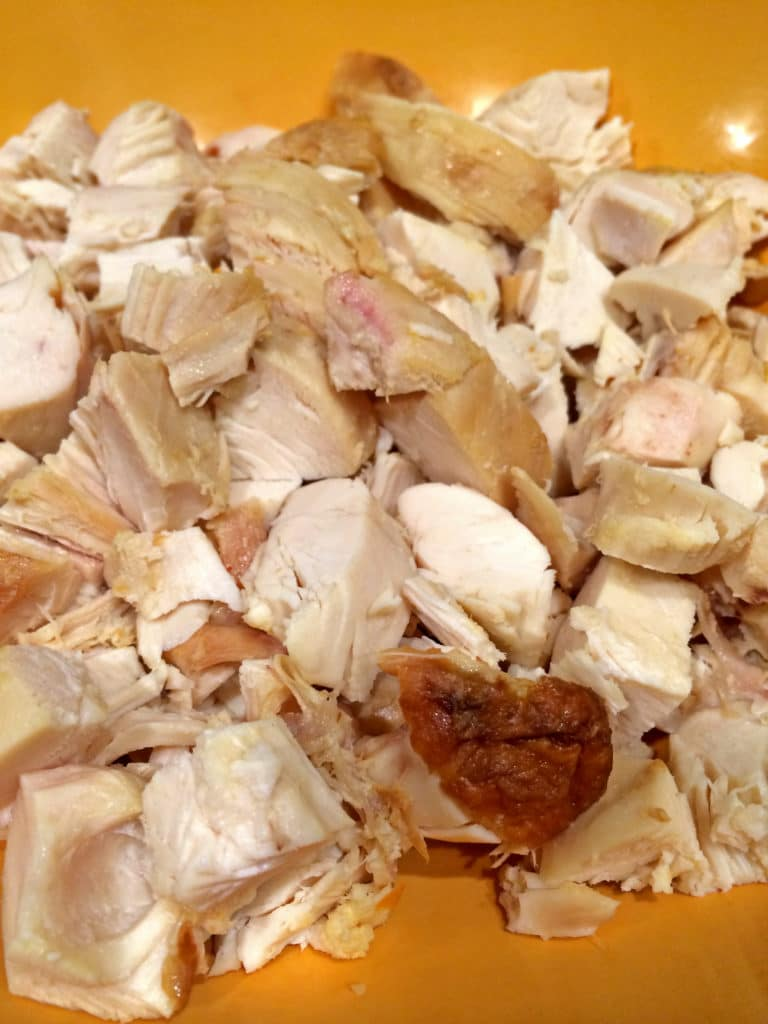 chopped chicken