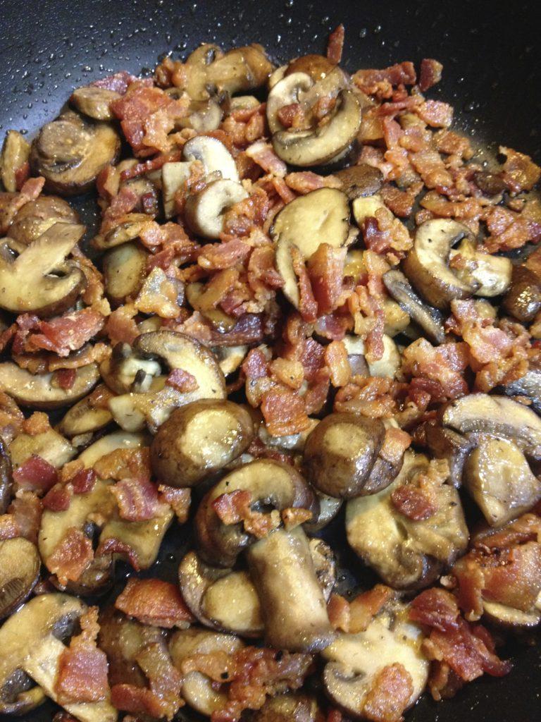 sauteed mushrooms bacon
