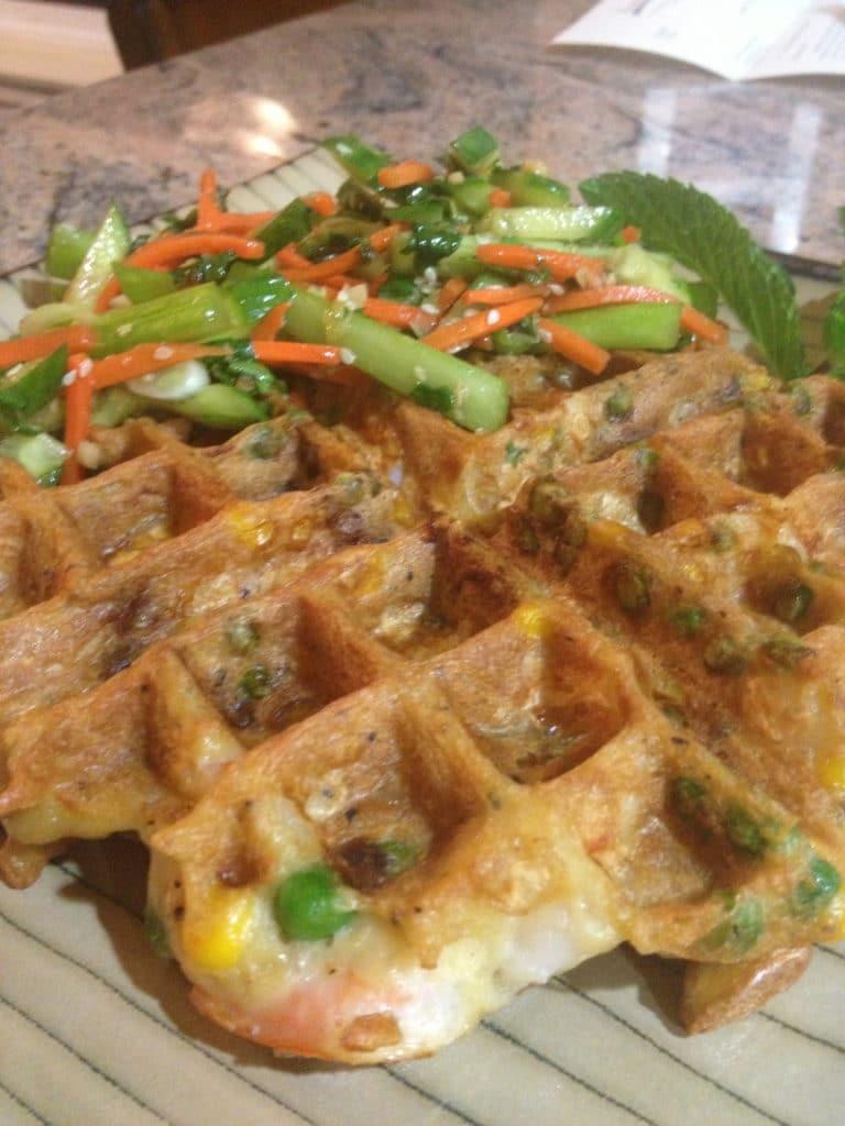 shrimp waffle thai spring salad
