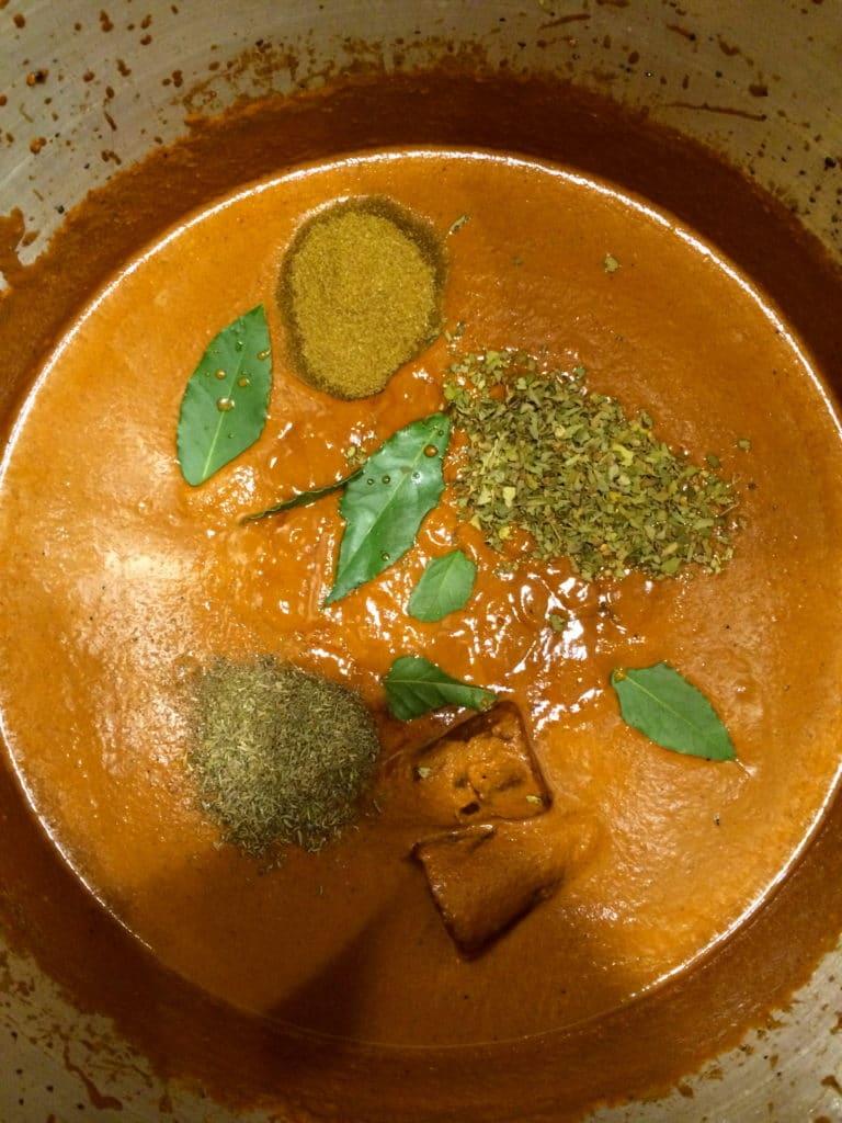 Molé Negro herbs spices