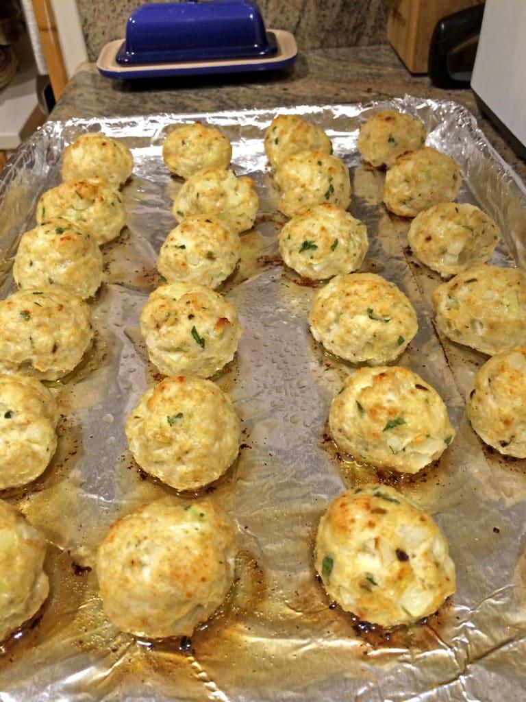 bake dchicken meatballs