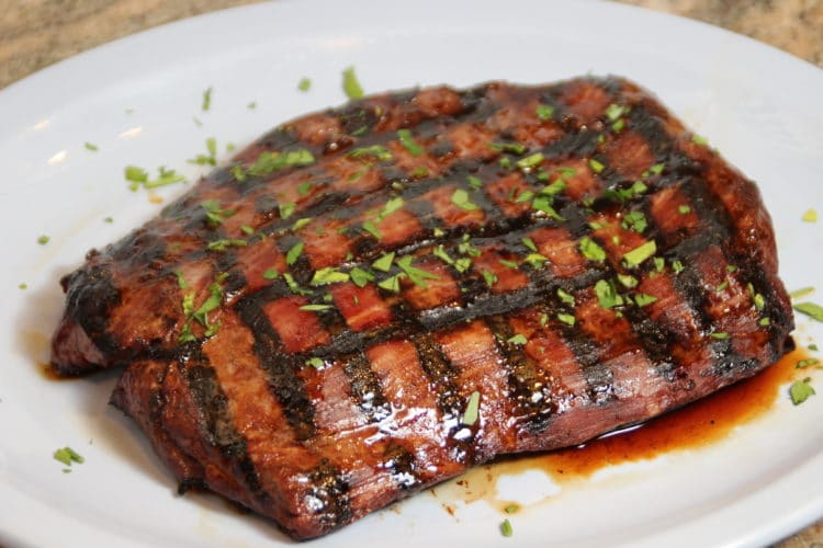 grilled flank feature