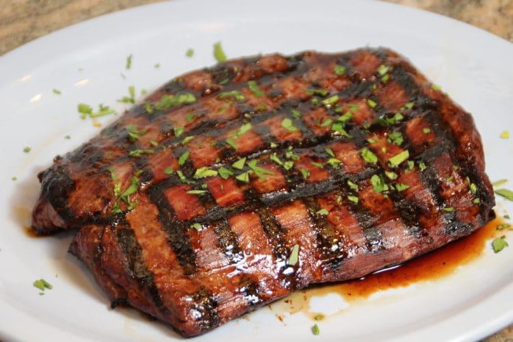 teriyaki marinated flank steak kevin is cooking