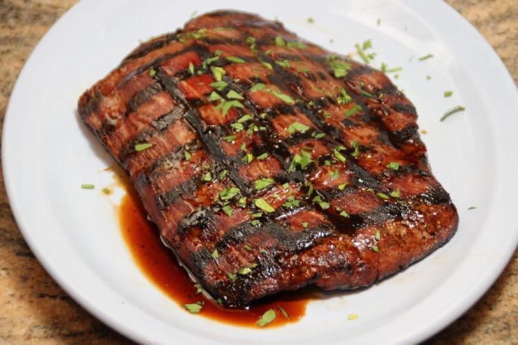 Teriyaki Marinated Flank Steak - Kevin Is Cooking