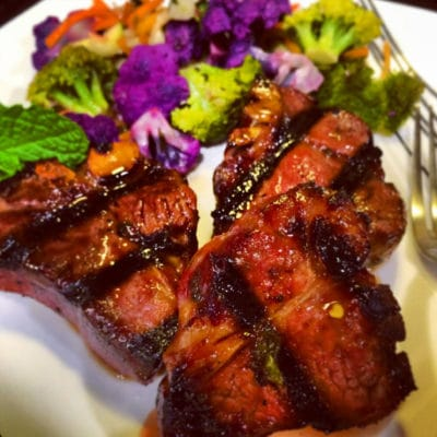 Lamb Loin Chops in Honey, Madeira and Mint