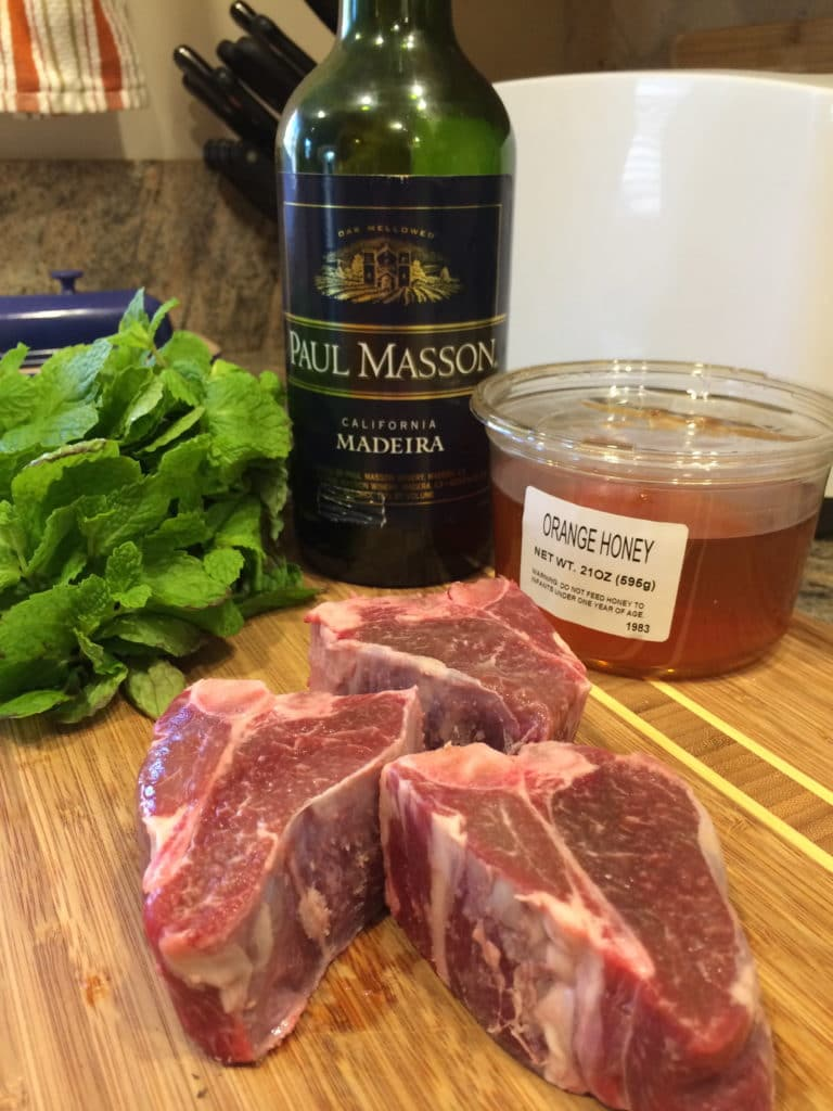 madeira mint honey lamb