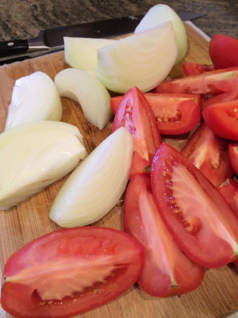 onion tomatoes