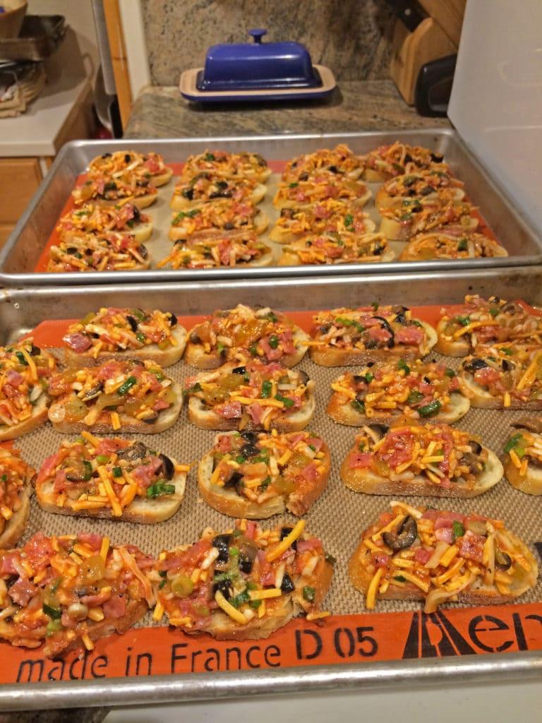 pizzas pre bake