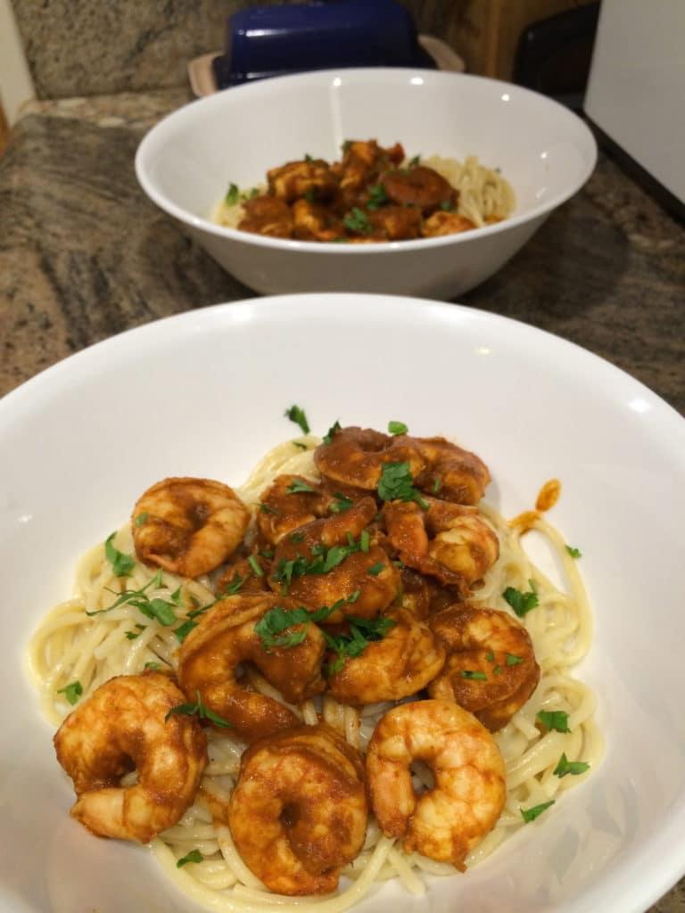 shrimp diablo plates