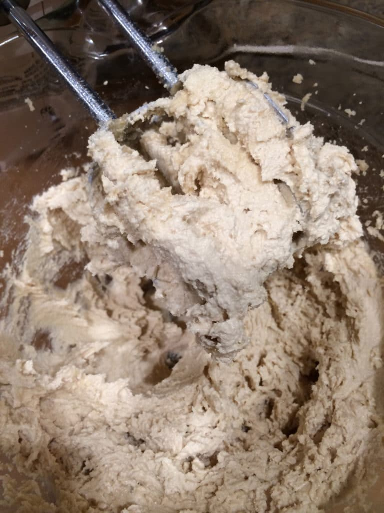 sugars and butter whipped