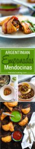 Empanadas Mendocinas are traditional Argentinean baked empanadas filled with beef, onions, warm spices, hard-boiled egg and olives. Dough recipe included!
