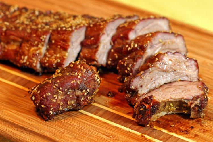 Curry Five Spice Dry Pork Ribs cut