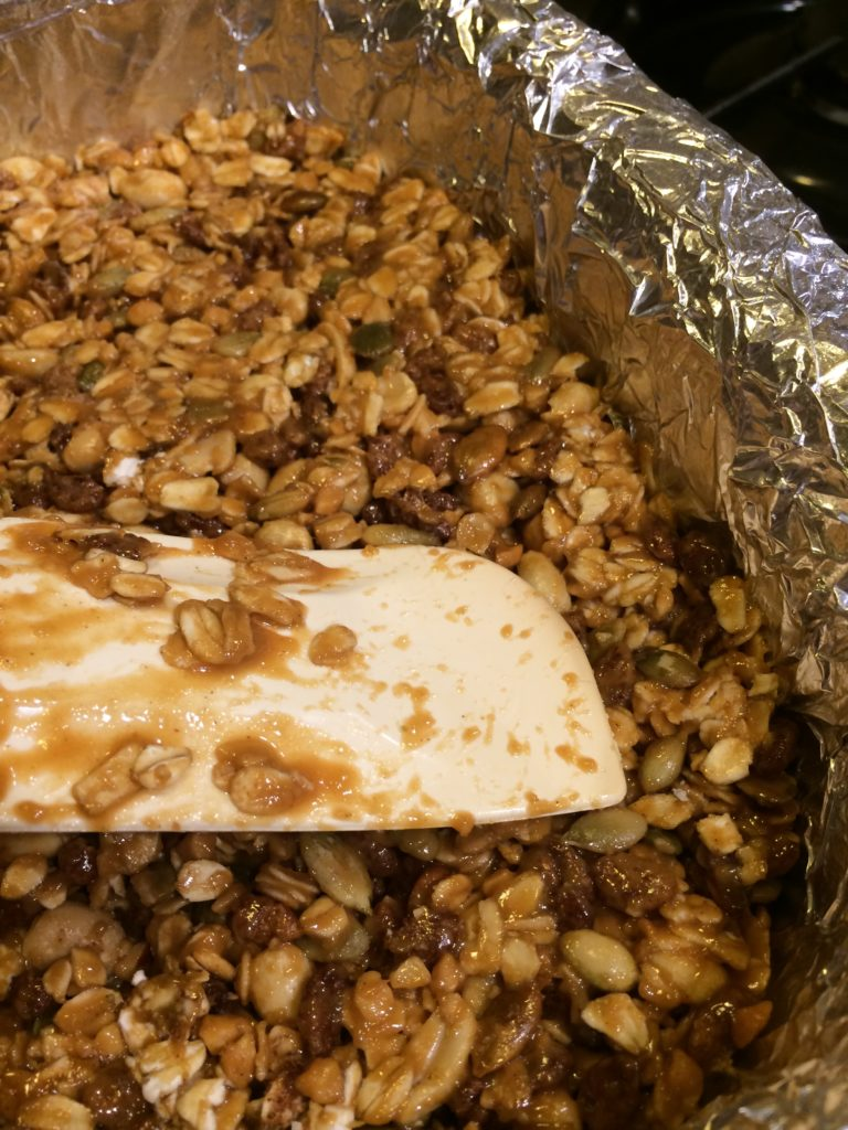 Easy Peanut Butter Granola Bars corner