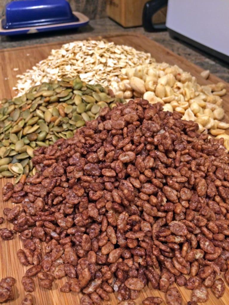 Easy Peanut Butter Granola Bars prep