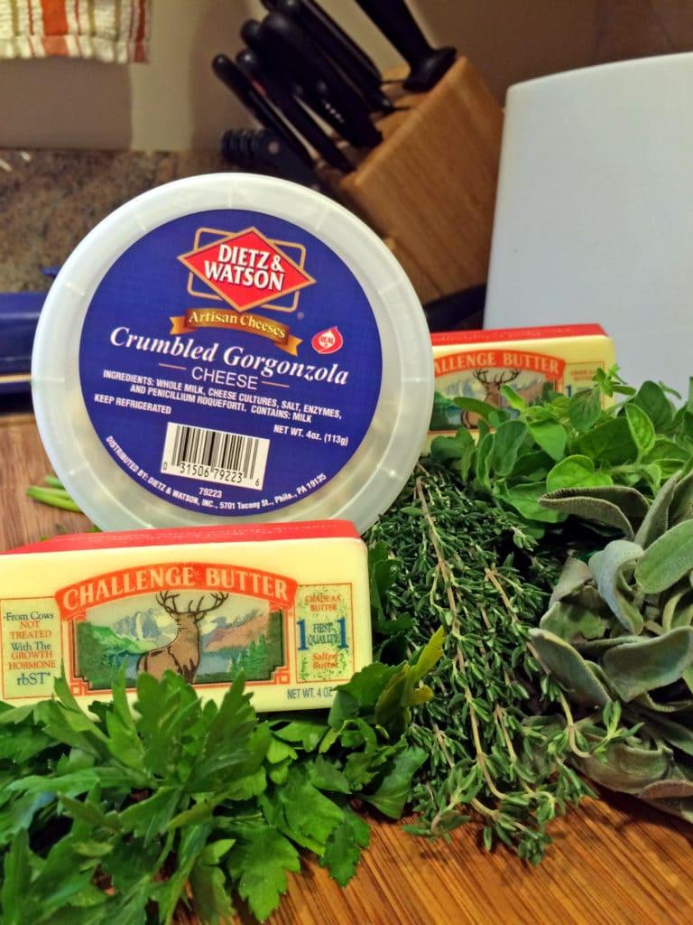 Herb Bleu Cheese Compound Butter1