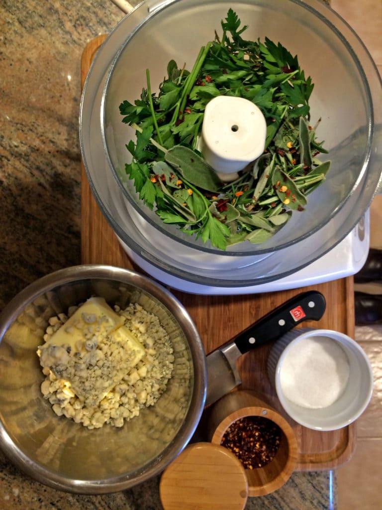 Herb Bleu Cheese Compound Butter2