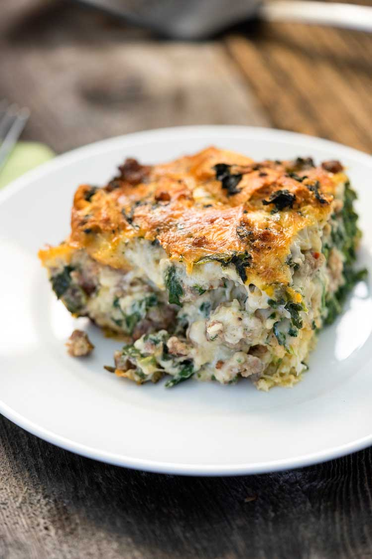 Italian Sausage Gouda And Spinach Strata Www Keviniscooking