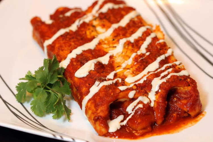 Pork and Cheese Enchiladas in Red Sauce feature