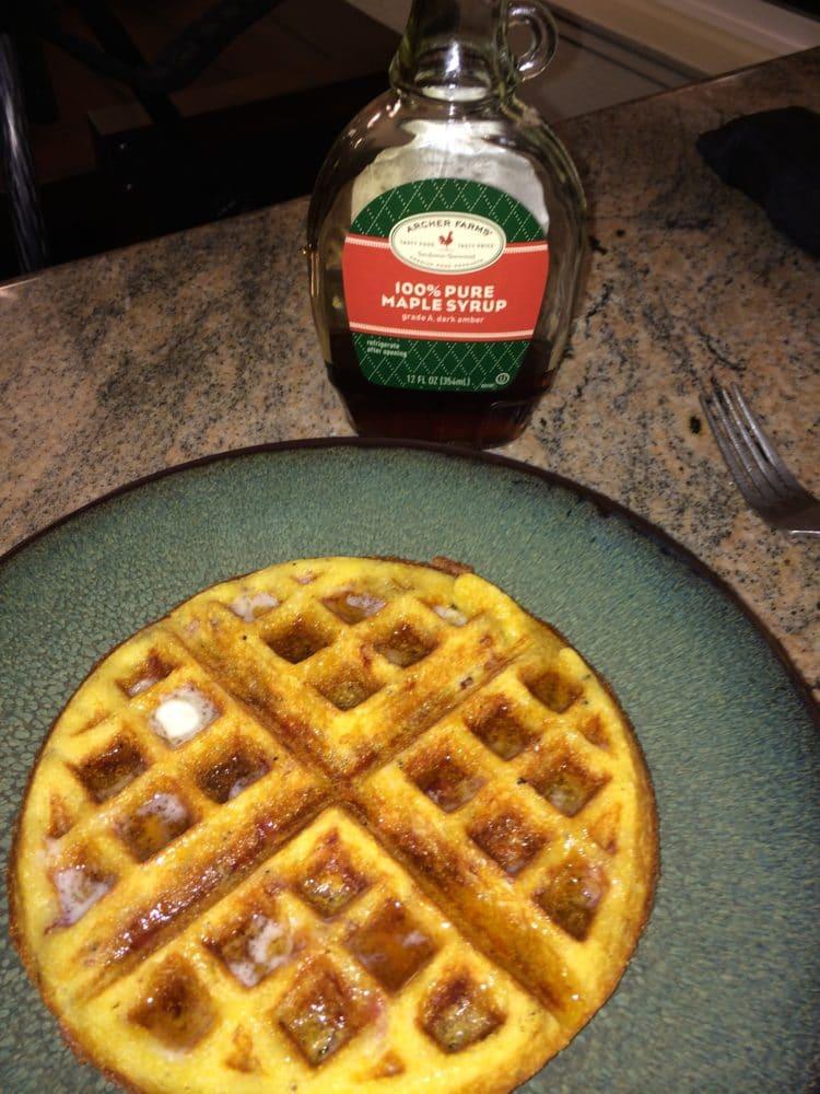cornmeal bacon waffle