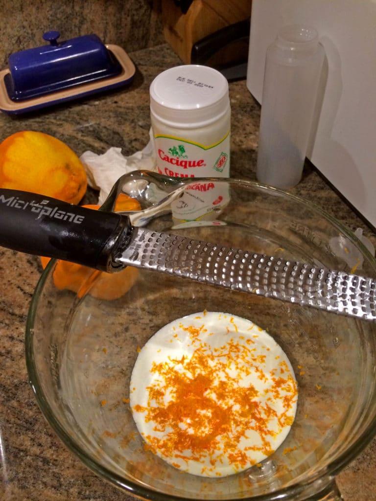 crema with orange